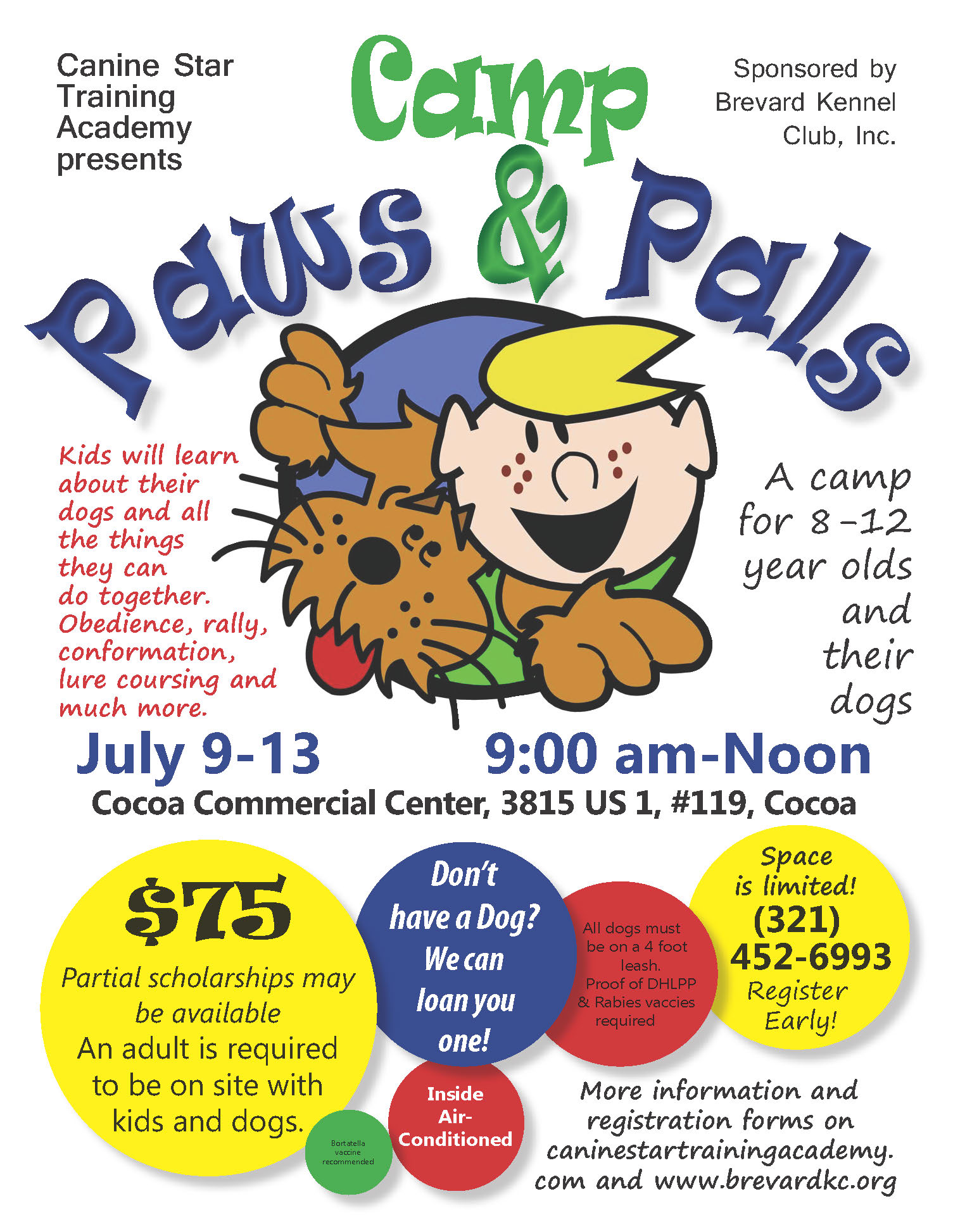 Camp Paws and Pals 2018