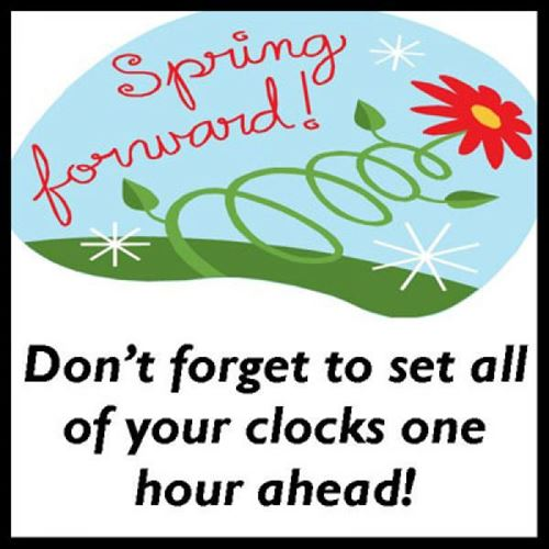daylight savings time clip art spring forward 1